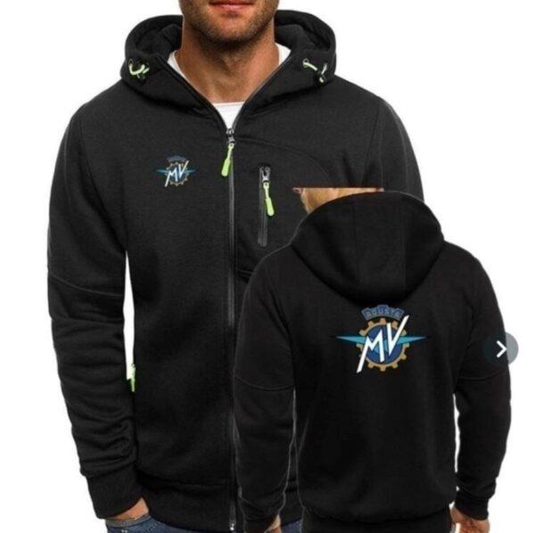 Mv Agusta fekete cipzáros pulóver