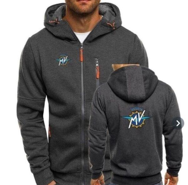 Mv Agusta sötétszürke cipzáros pulóver