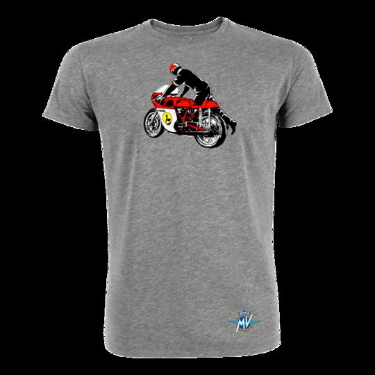 Reaparto Corse Vintage Rider szürke póló