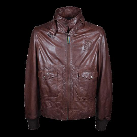 Reparto Corse Vintage barna bőrkabát