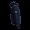 Sötétkék tollas kabát